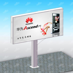 Street Double Sided Backlit Billboard Outdoor Shopping Mall Outside LED Mupi Unipole pictures & photos