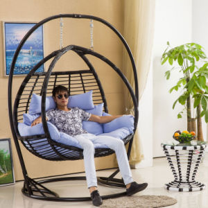 Garden Furniture Double Swing Swing, Rattan Furniture, Rattan Basket (D156) pictures & photos