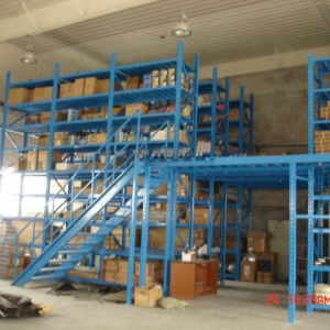Heavy Duty Mezzanine Floor Rack with Carton Flow Rack pictures & photos