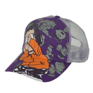 Custom 5 Panel Print Snapback Trucker Hat with Embroidery pictures & photos