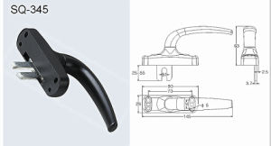 Handle for Windows/Doors Hardware Fittings (SQ-345) pictures & photos