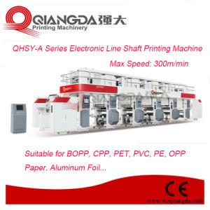 Qhsy-a Series 8 Colors 1000mm Width Electronic Line Shaft Plastic Film Gravure Printing Machine pictures & photos