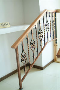 Haohan Customized European Residential Decorative Galvanized Steel Stair Handrail 2 pictures & photos