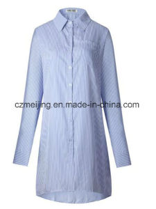 Stripe Women`S Long Shirt