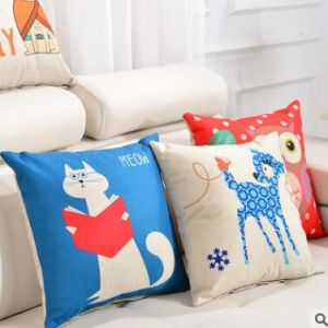 Fashion Christmas Decorative Case Linen Cotton Cushion 4 pictures & photos