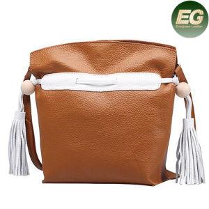 Genuine Leather Handbags Designer Young Ladies Leisure Tote Bag Tassel Emg4856 pictures & photos