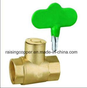 Brass Ball Valve with Lock pictures & photos