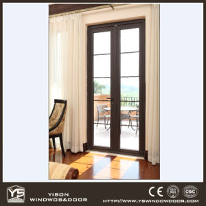 Double Tempered Lowe Glass Aluminum French Door pictures & photos