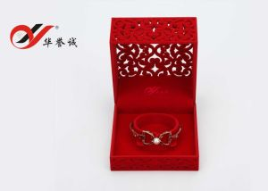 Square Hollow out Flower Velvet Bangle Box pictures & photos
