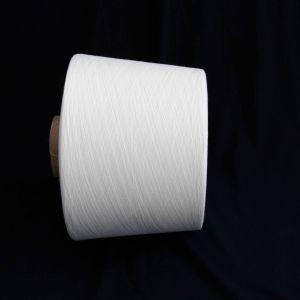 30/1 32/1 Raw White 100% Polyester Spun Knitting Yarn pictures & photos