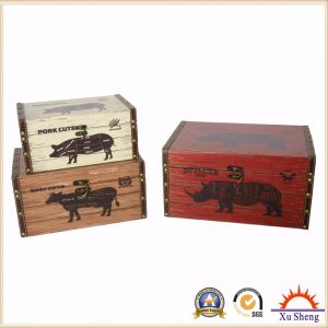 Antique Furniture Decorative Box for Storage and Gift Box for Presents with Farm Chicken Pattern pictures & photos