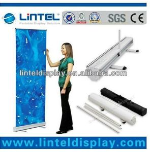 Floor Standing Custom Logo Aluminum Roll up Banner Display pictures & photos