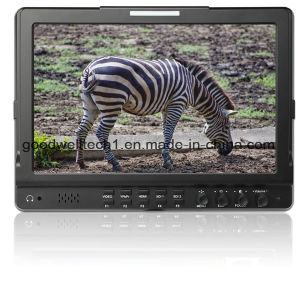 Dual 3G HD Sdi Input IPS Panel 10.1 Inch LCD Monitor pictures & photos