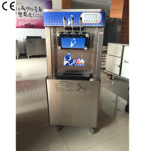 High Quality Commercial Big Capacity Stainless Steel Precooling Three Flavors Soft Serve Ice Cream Maker with Ce Approved pictures & photos