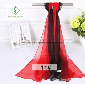 2017 Korean Gradient Color Chiffon Shawl Fashion Lady Scarf Factory pictures & photos