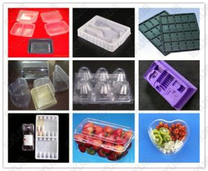 Plastic Vacuum Forming Machine Making Plastic Chocolate Blister Tray pictures & photos