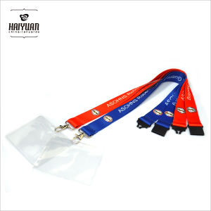 Heat Transfer Printing Lanyard with PVC Card Holder pictures & photos