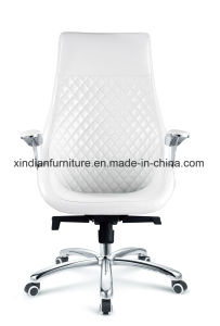 White Modern Metal Leather Chair for Office Used pictures & photos