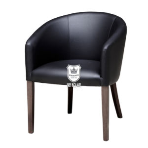 Black PU Leather Hotel Tub Chair pictures & photos