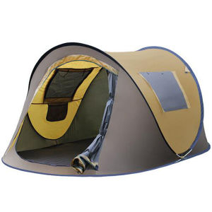 Outdoor 3 People Automatic Camping Tent Double Camping Boat Tent