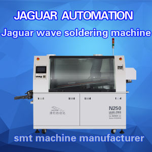 Small Size Lead-Free Dual Wave Soldering Machine for DIP Production pictures & photos