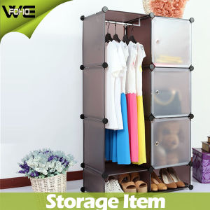 Plastic Storage Cabinet Ready Assembled Wardrobes for Bedroom pictures & photos