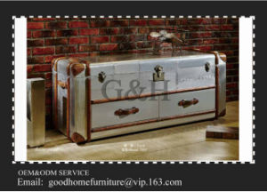 Wholesale Antique Style Aluminum Surface Wooden Chest of Drawers pictures & photos