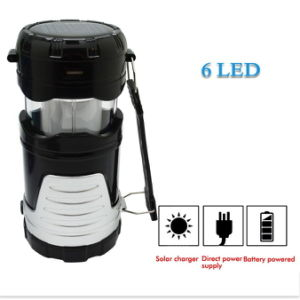 6 LEDs Rechargeable Solar Camping Light for Outdoor Lighting Hiking pictures & photos