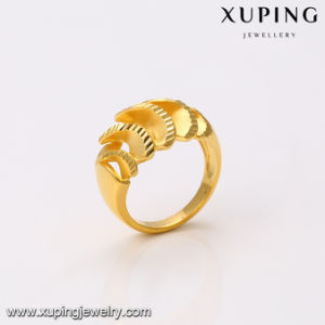 14342 Fashion Jewelry Simple Metal Alloy 24k Gold Ring Without Stone pictures & photos