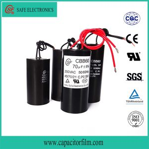 Cbb60 AC Motor Platstic Case Capacitor pictures & photos
