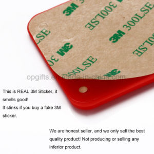 Promotional Smart Wallet 3m Sticky Silicone Mobile Card Holder pictures & photos