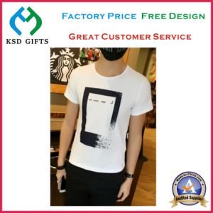 Top Quality Customized Promotional O-Neck 100% Cotton T-Shirt pictures & photos