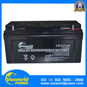 Deep Cycle Solar System 12V 65ah Front Terminal Cheap High Quality Gel AGM Battery pictures & photos