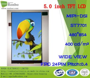 5.0 Inch Fwvga 480X854 TFT LCD Display for Portable Device pictures & photos