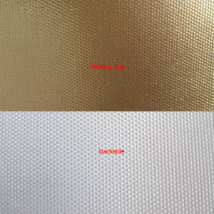 320GSM Eco Solvent Polyester Golden Canvas Glossy pictures & photos