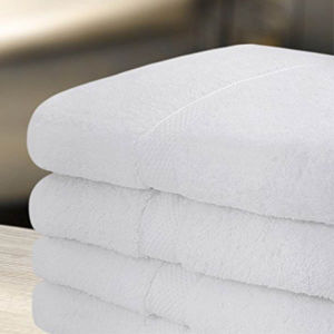 100% Cotton Terry Towel in White Color Hotel/Home Towel pictures & photos