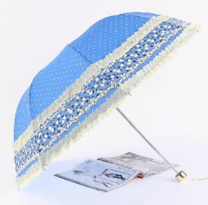 Three Fold Creative Lace Umbrella pictures & photos