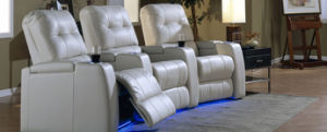 Modern Home Cinema Chair with USB Charge Movie Chair Leather pictures & photos