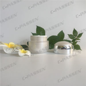 50g Pearl White Acrylic Cream Jar for Cosmetic Packaging (PPC-ACJ-104) pictures & photos