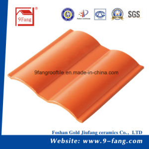 Ceramic Roofting Tile 200*200mm Corrugated Wave Type Ceramic Roofing Tile Made in China Traditional pictures & photos