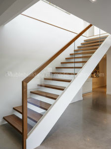 Custom Straight Staircase Design in Wood pictures & photos