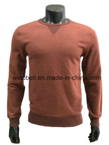 Plain Comfortable Round Neck Pullover for Men with Terry Inside pictures & photos