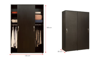 Melamine Laminated MFC Wooden Wardrobe (HX-DR274) pictures & photos