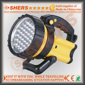 Rechargeable 37PCS LED Spotlight with Warning Light for Searching pictures & photos