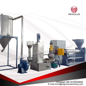 PE/HDPE/LDPE Flakes Pelletizing Recycling Machine pictures & photos
