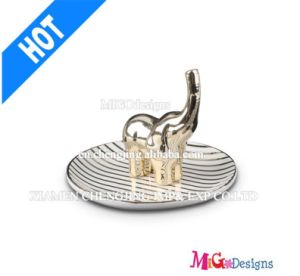 Plating Ceramic Elephant OEM Ring Holder Dish pictures & photos