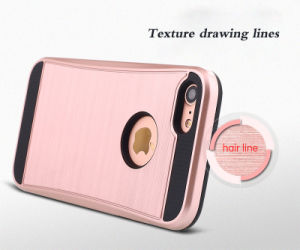 Mars Wire Drawing Doughty Armor TPU+PC Hard Mobile Phone Case for iPhone7 7puls (XSEH-023) pictures & photos