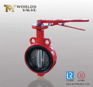 Lever Operated Wafer Butterfly Valve with Double Half Shaft (D71X-10/16) pictures & photos