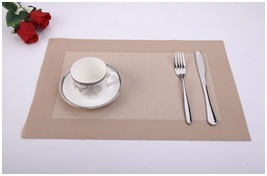 Factory Sales PVC Table Mat. European Style Dining Grey Pad pictures & photos