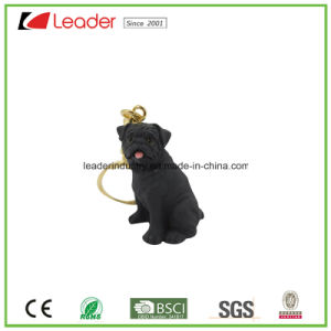 New Lovely Black Bulldog Figurine 3D Keychain pictures & photos